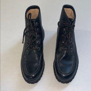 Frye Black Dakota Mid Lace Leather Boot